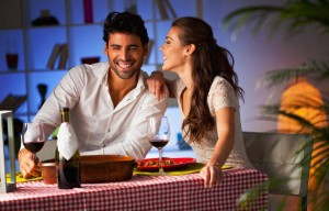 Romantic-couple-having-dinner-at-home
